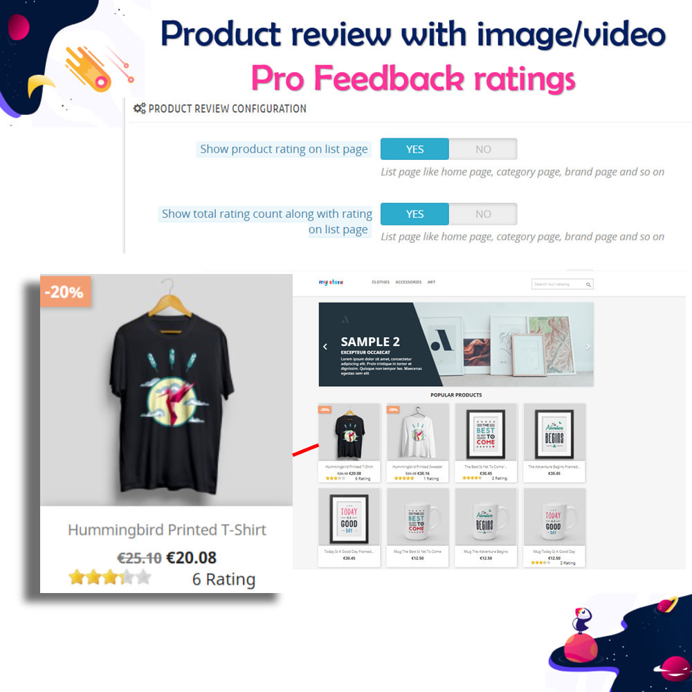 module - Customer Reviews - Product review with image/video Pro Feedback ratings - 10