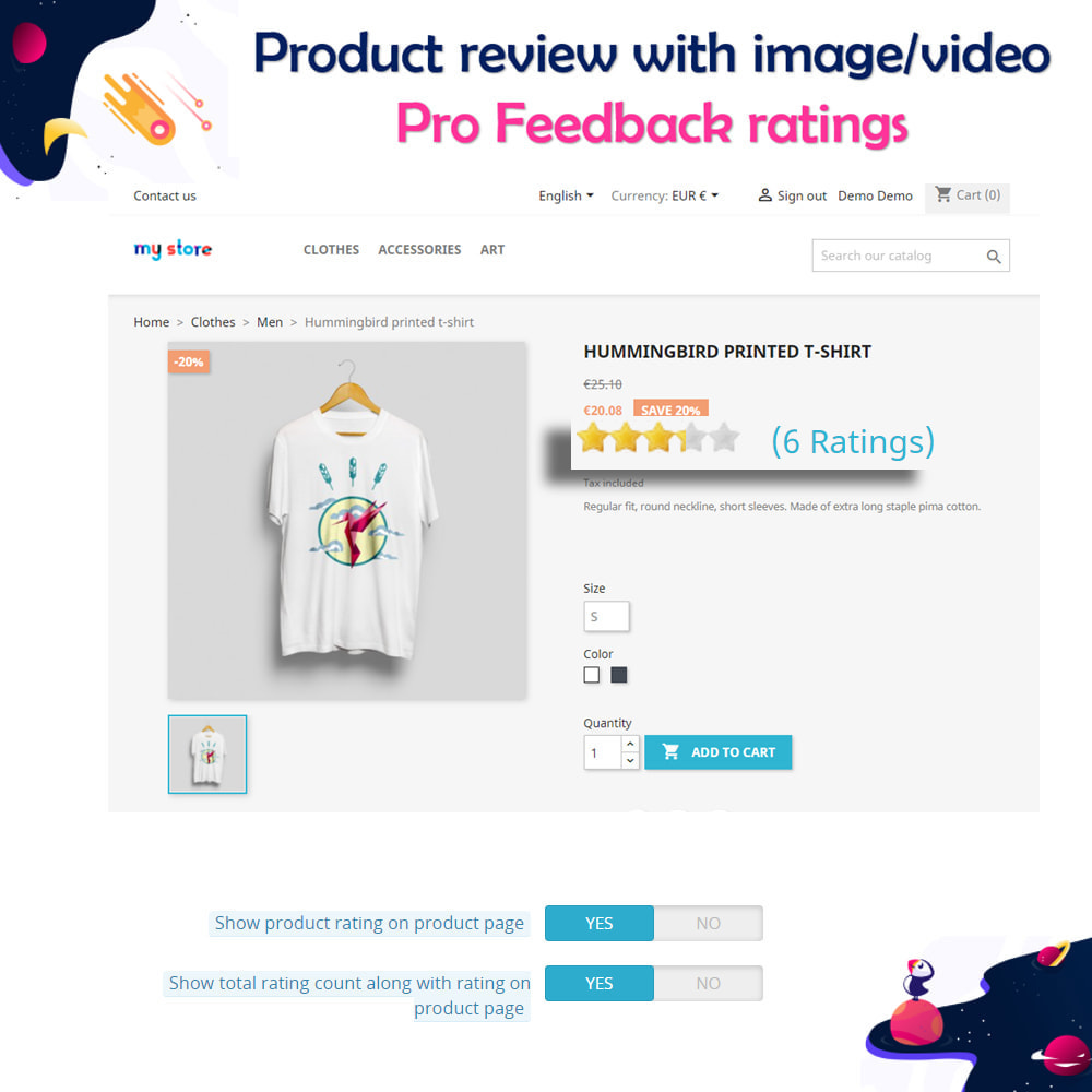 module - Customer Reviews - Product review with image/video Pro Feedback ratings - 11