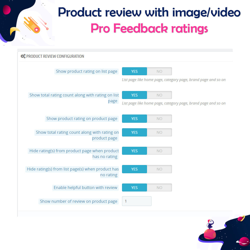 module - Customer Reviews - Product review with image/video Pro Feedback ratings - 13