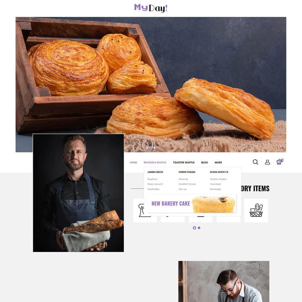 theme - Food & Restaurant - Myday - Waffle Store - 3