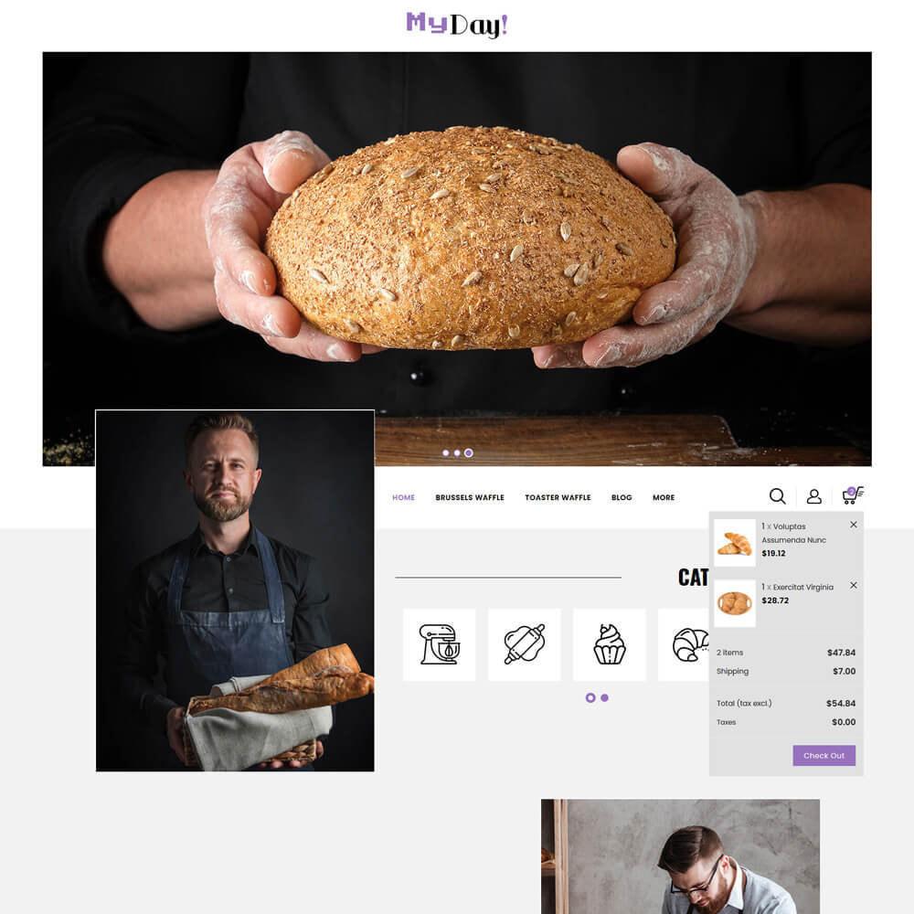 theme - Food & Restaurant - Myday - Waffle Store - 4
