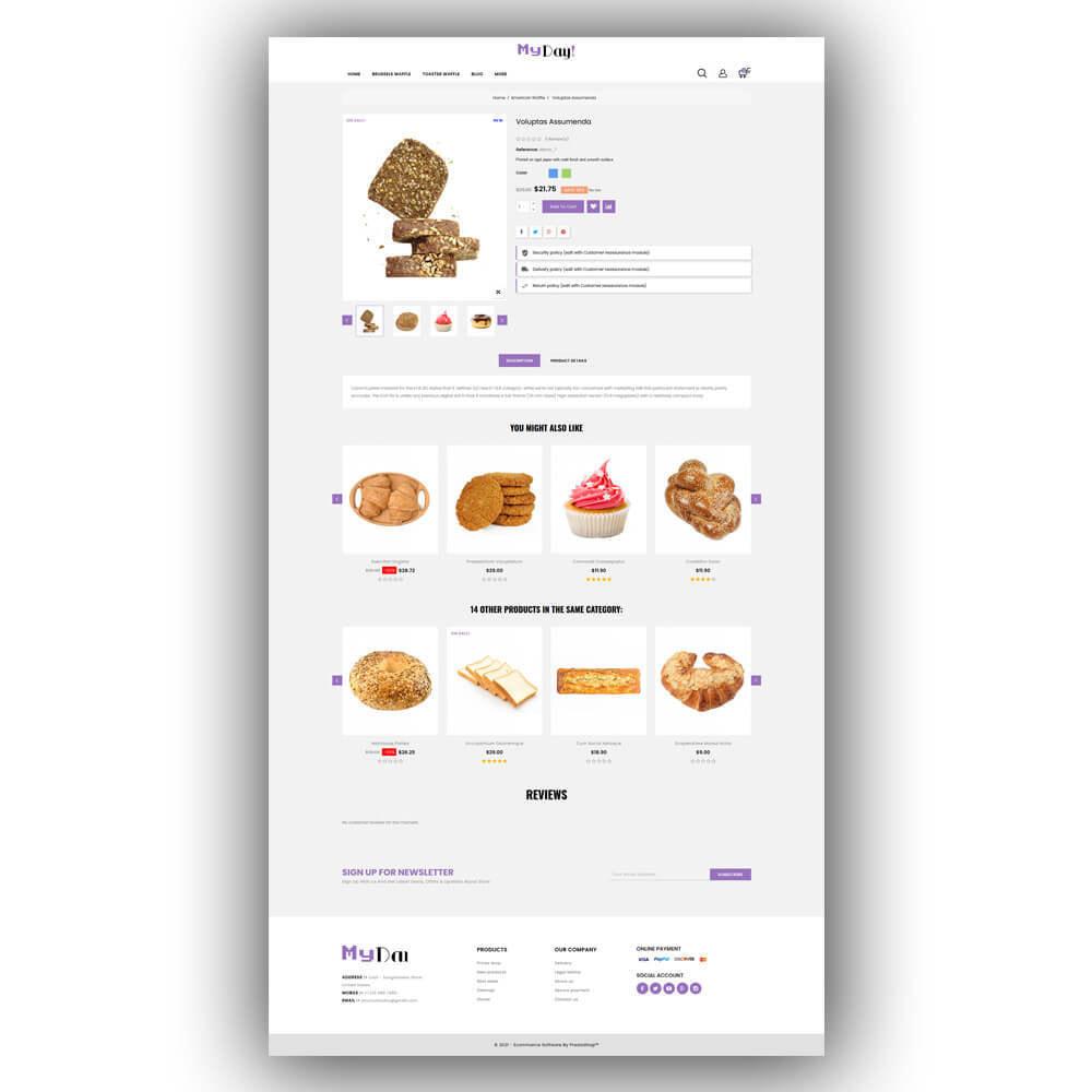 theme - Food & Restaurant - Myday - Waffle Store - 7