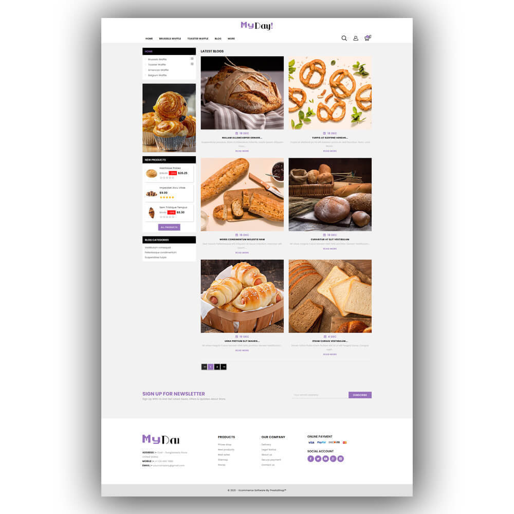 theme - Food & Restaurant - Myday - Waffle Store - 8