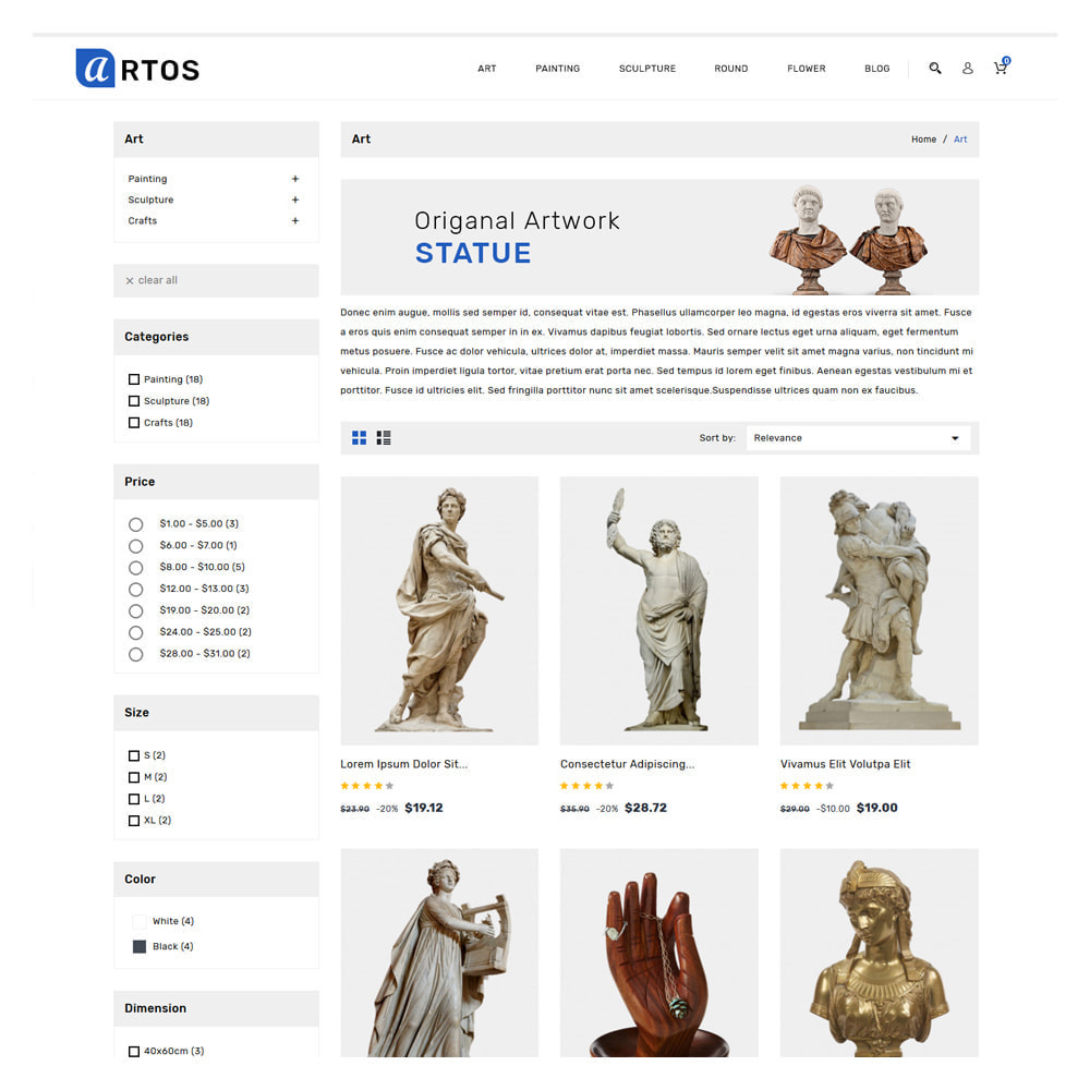 theme - Gifts, Flowers & Celebrations - Artos Art & Culture Store - 3