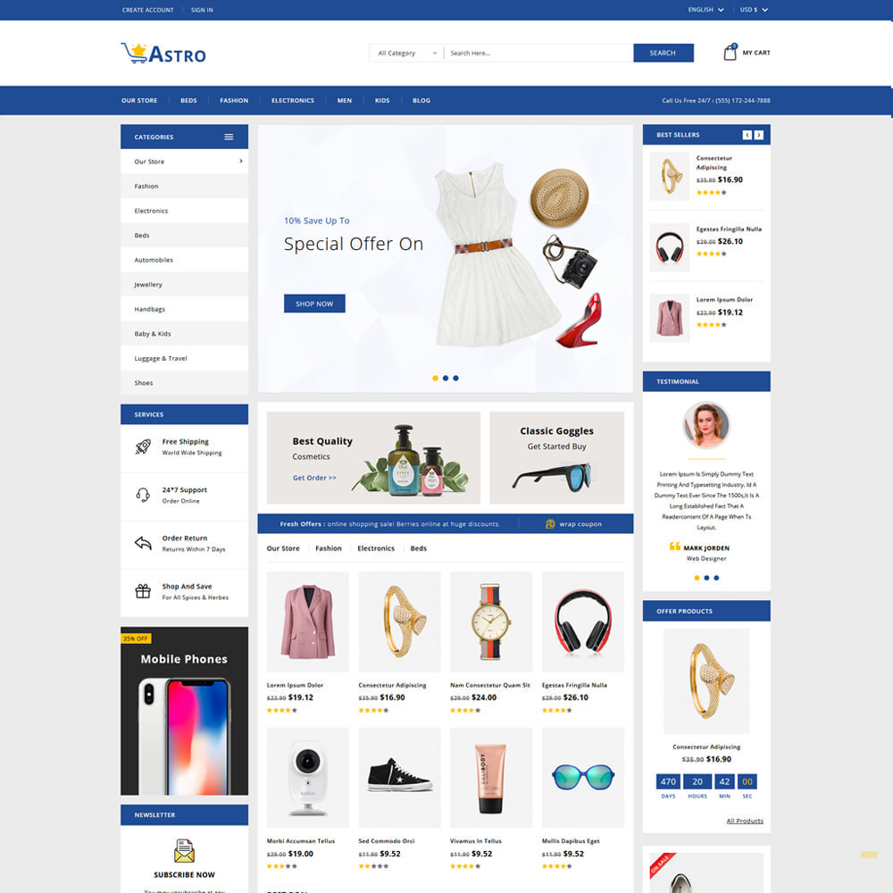 theme - Fashion & Shoes - Astro Minimal Fashion Store - 2