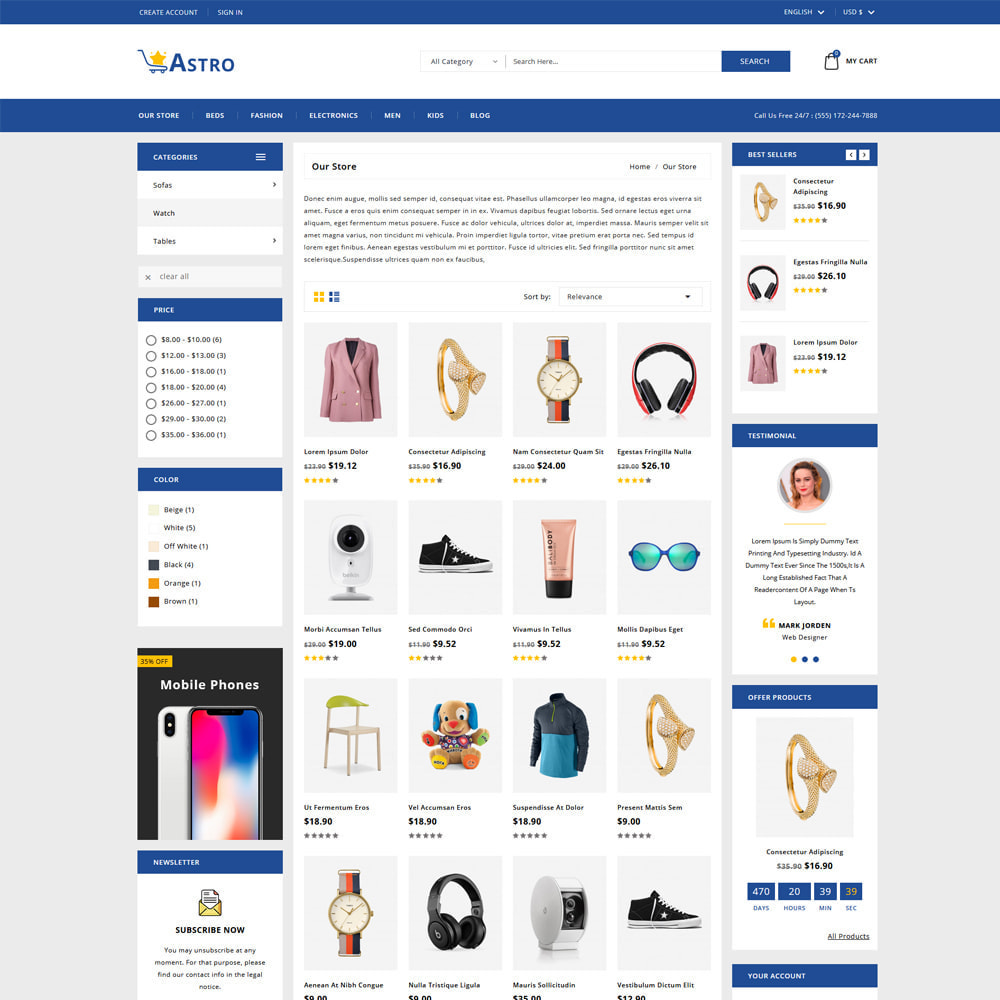 theme - Fashion & Shoes - Astro Minimal Fashion Store - 3