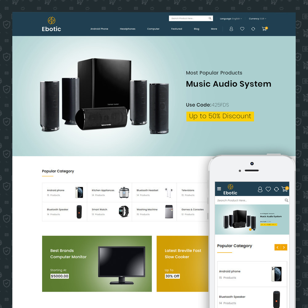theme - Elettronica & High Tech - Ebotic - Multipurpose Online Store - 5