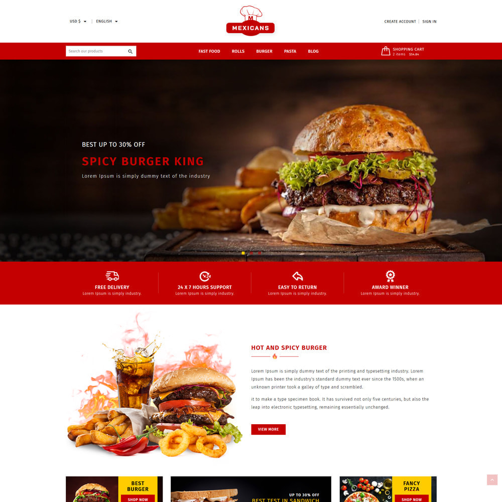 theme - Food & Restaurant - Maxicans Food & Restaurant Store - 2