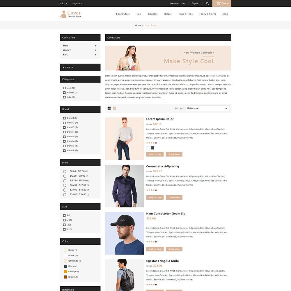 theme - Fashion & Shoes - Covet Online Fashion Store - 4