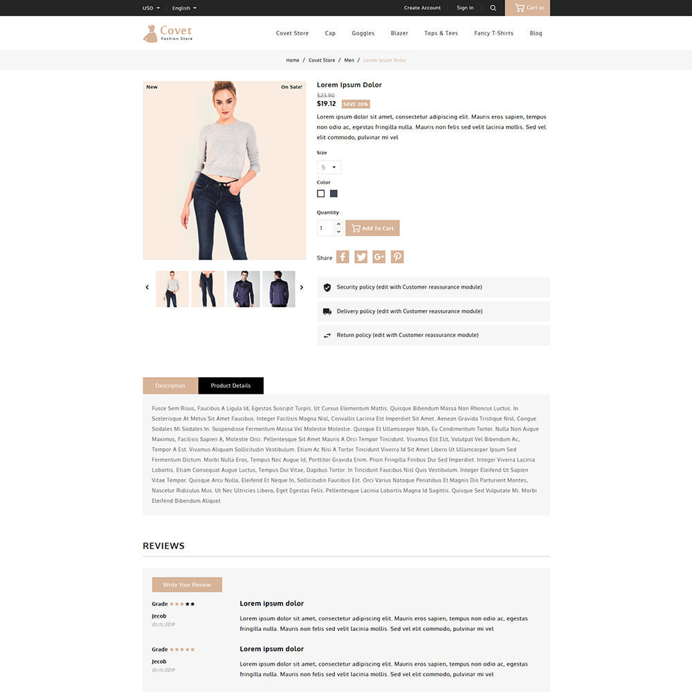 theme - Fashion & Shoes - Covet Online Fashion Store - 5