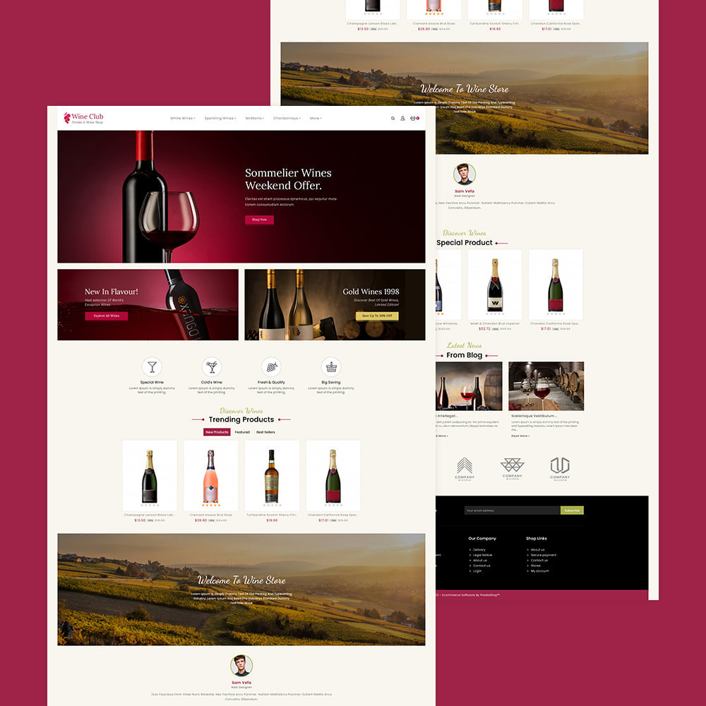 theme - Drink & Wine - Wine Club - Drink & Tobacco Store - 3