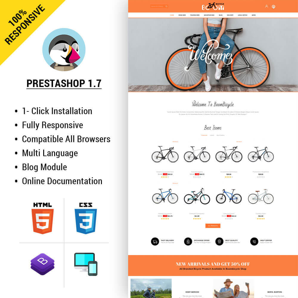 theme - Sport, Loisirs & Voyage - Boombiycle - Biycycle Store - 1