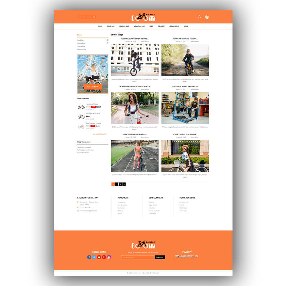 theme - Sport, Loisirs & Voyage - Boombiycle - Biycycle Store - 8