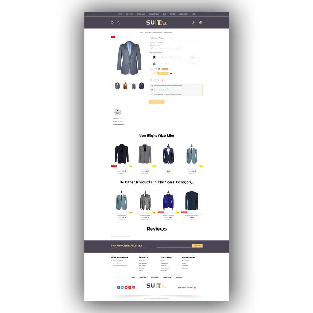 theme - Fashion & Shoes - Suittai - Suit Store - 7