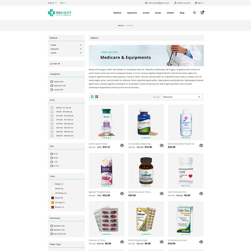 theme - Health & Beauty - Insight Online Medical Store - 3