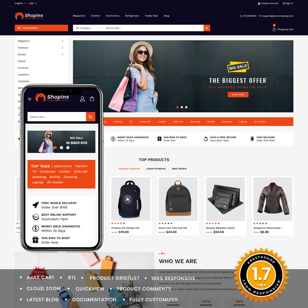 theme - Fashion & Shoes - Shopins Online Mega Store - 1