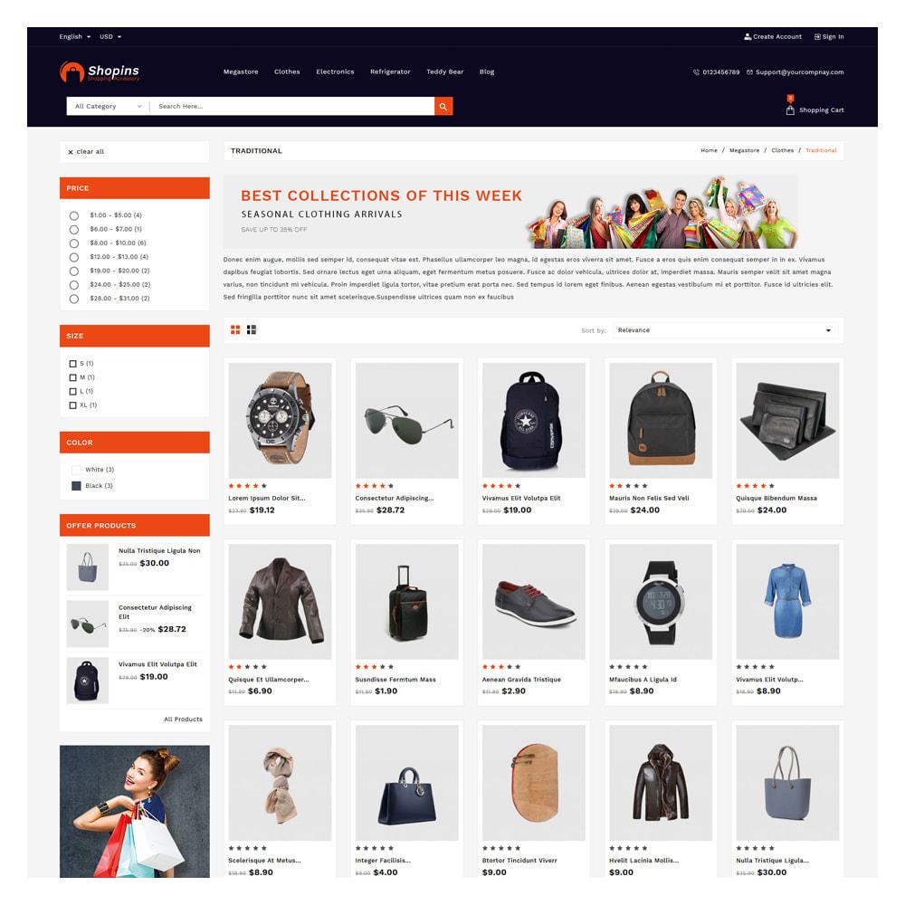 theme - Fashion & Shoes - Shopins Online Mega Store - 3