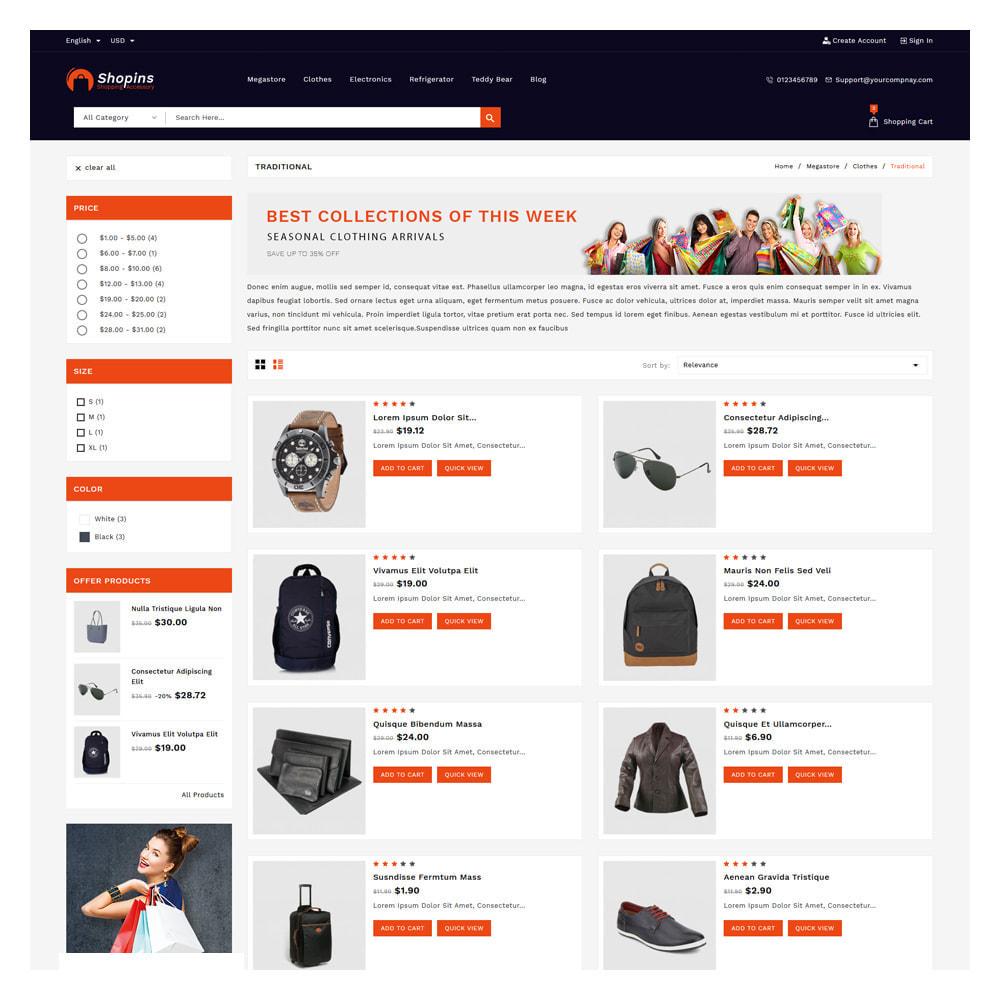 theme - Fashion & Shoes - Shopins Online Mega Store - 4