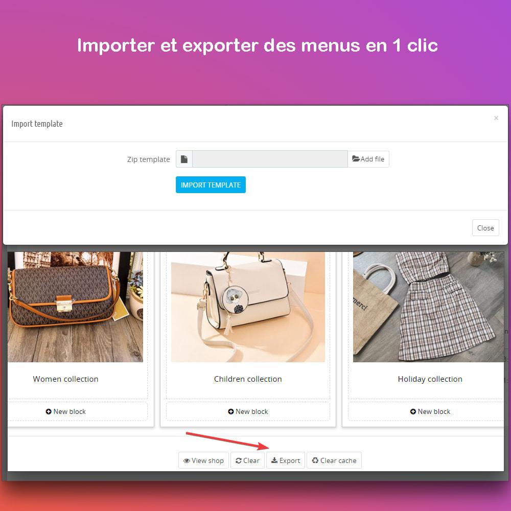 module - Menu - Smart Menu Builder - Design Drag/Drop Easier - 10