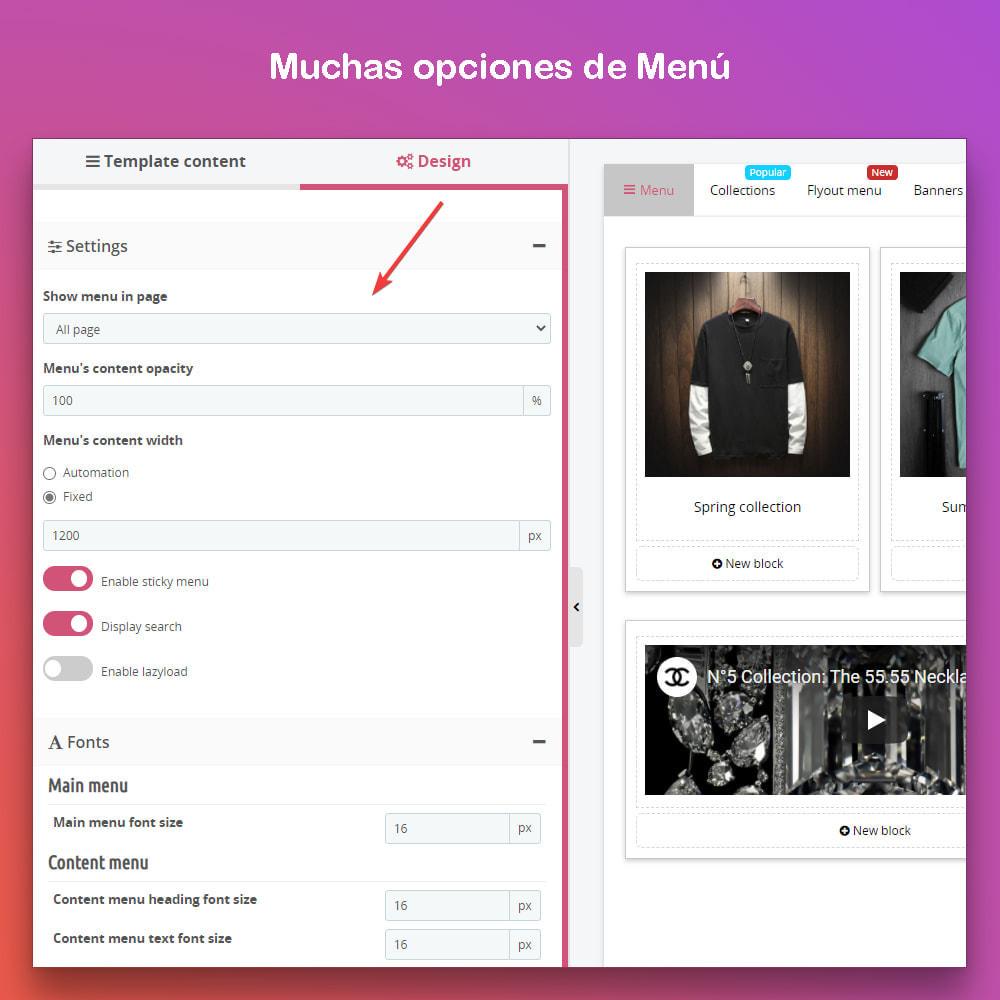 module - Menú - Smart Menu Builder - Design Drag/Drop Easier - 4