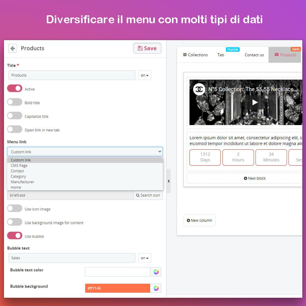 module - Menu - Smart Menu Builder - Design Drag/Drop Easier - 5
