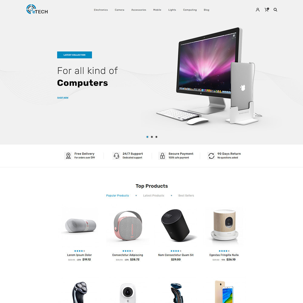 theme - Electronics & Computers - eTech Electronic Store - 2