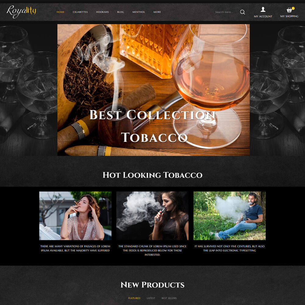 theme - Drink & Wine - Royality - Tobacco Store - 2