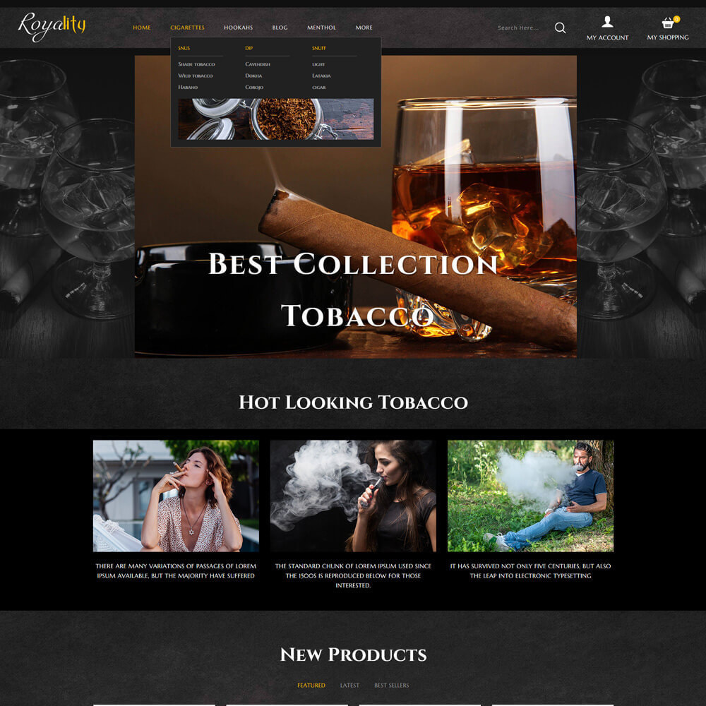 theme - Drink & Wine - Royality - Tobacco Store - 3