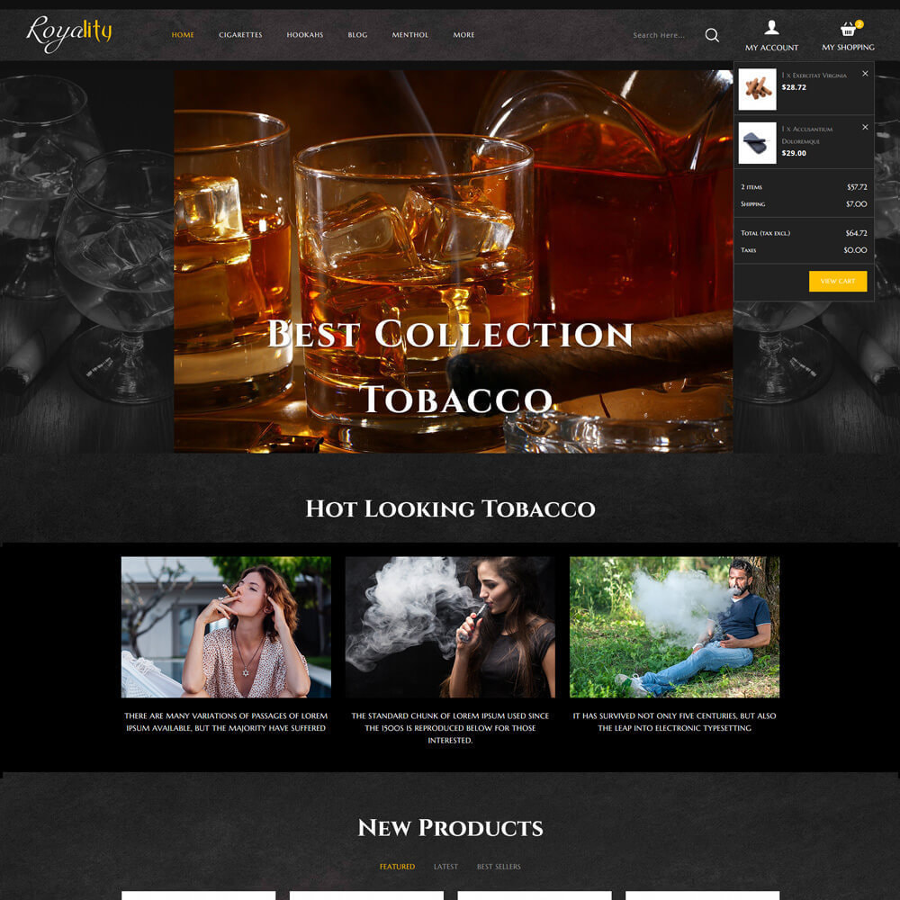 theme - Drink & Wine - Royality - Tobacco Store - 4