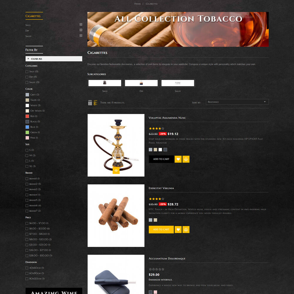 theme - Drink & Wine - Royality - Tobacco Store - 6