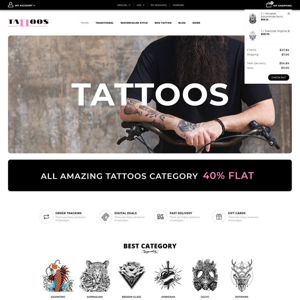theme - Искусство и Культура - Tattoo - Tattoo Store - 4