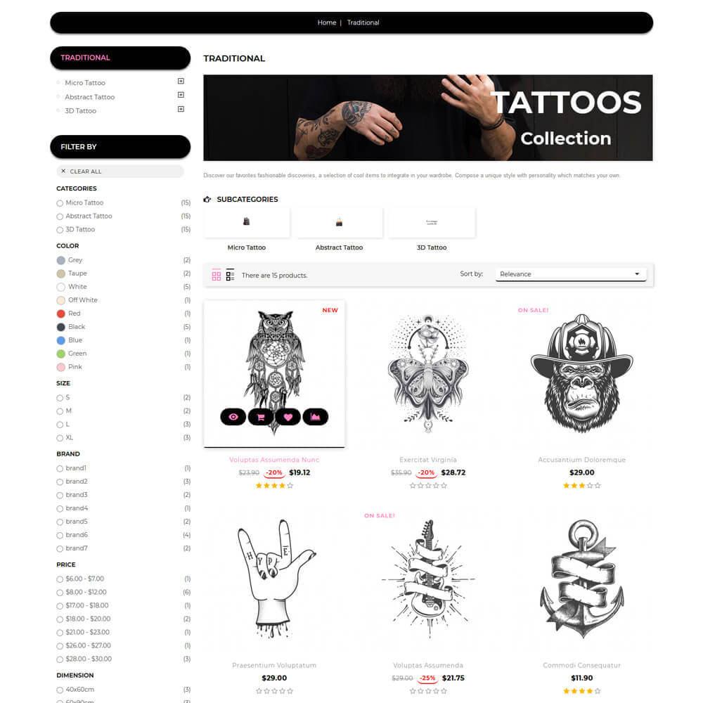 theme - Искусство и Культура - Tattoo - Tattoo Store - 5