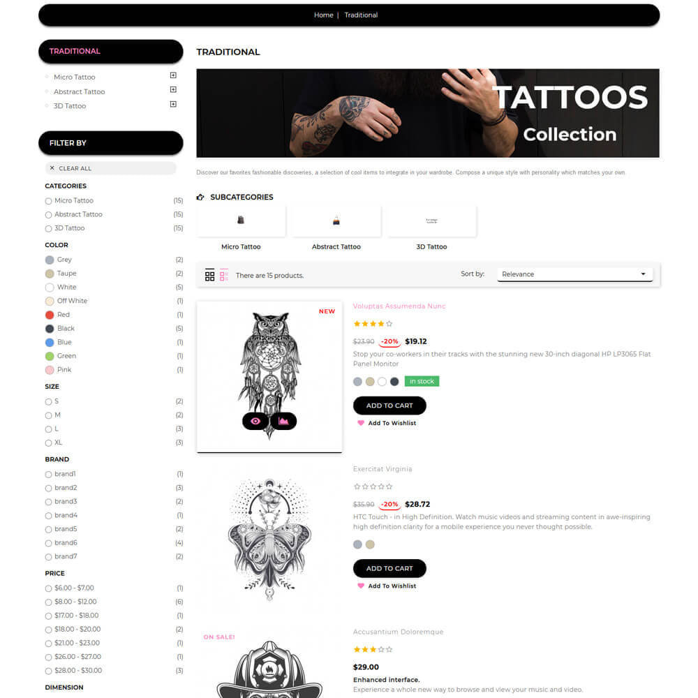 theme - Искусство и Культура - Tattoo - Tattoo Store - 6