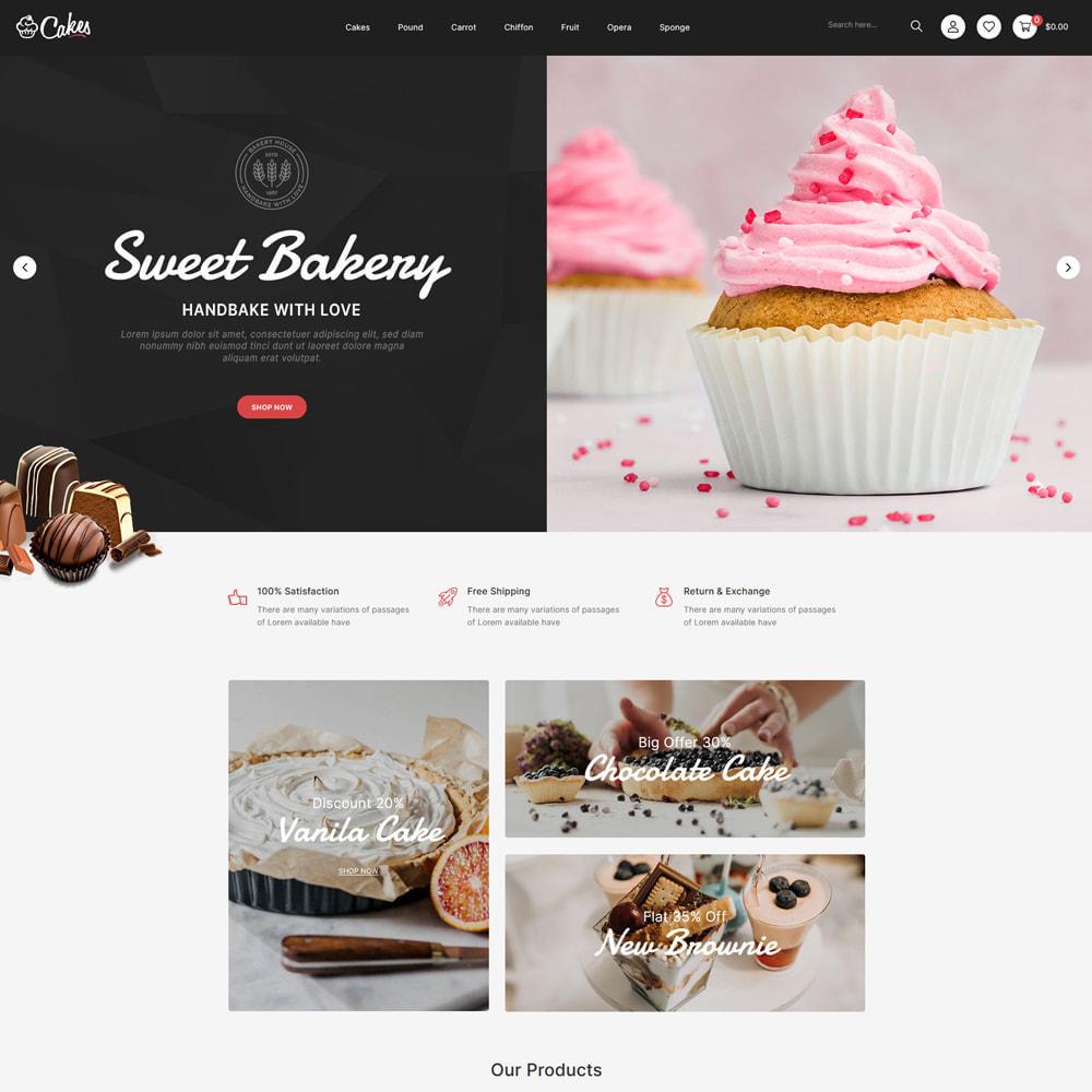 theme - Eten & Restaurant - Cakes - Cake & Chocolate Store - 2