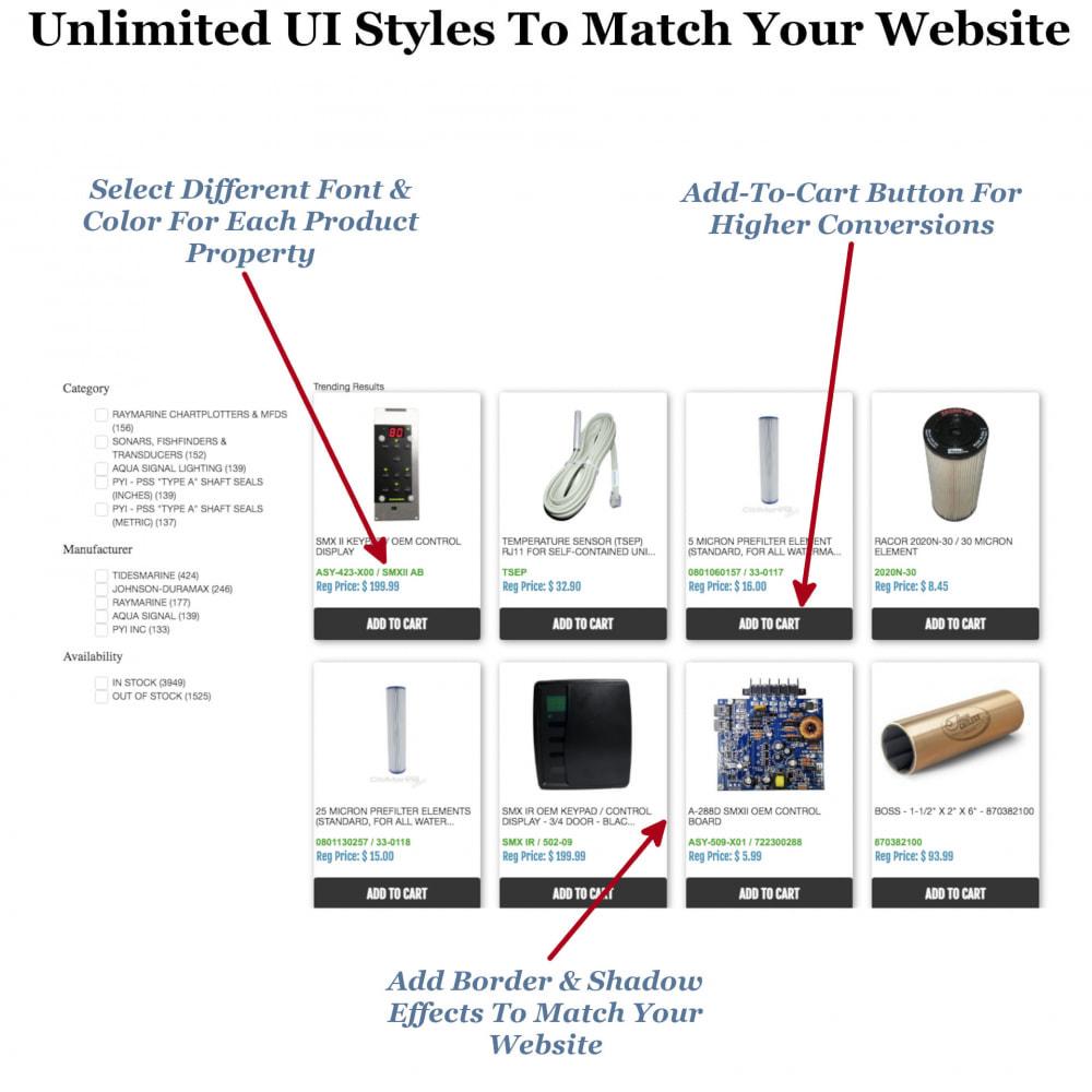 module - Zoeken & Filteren - Instant Search & Filters - 7