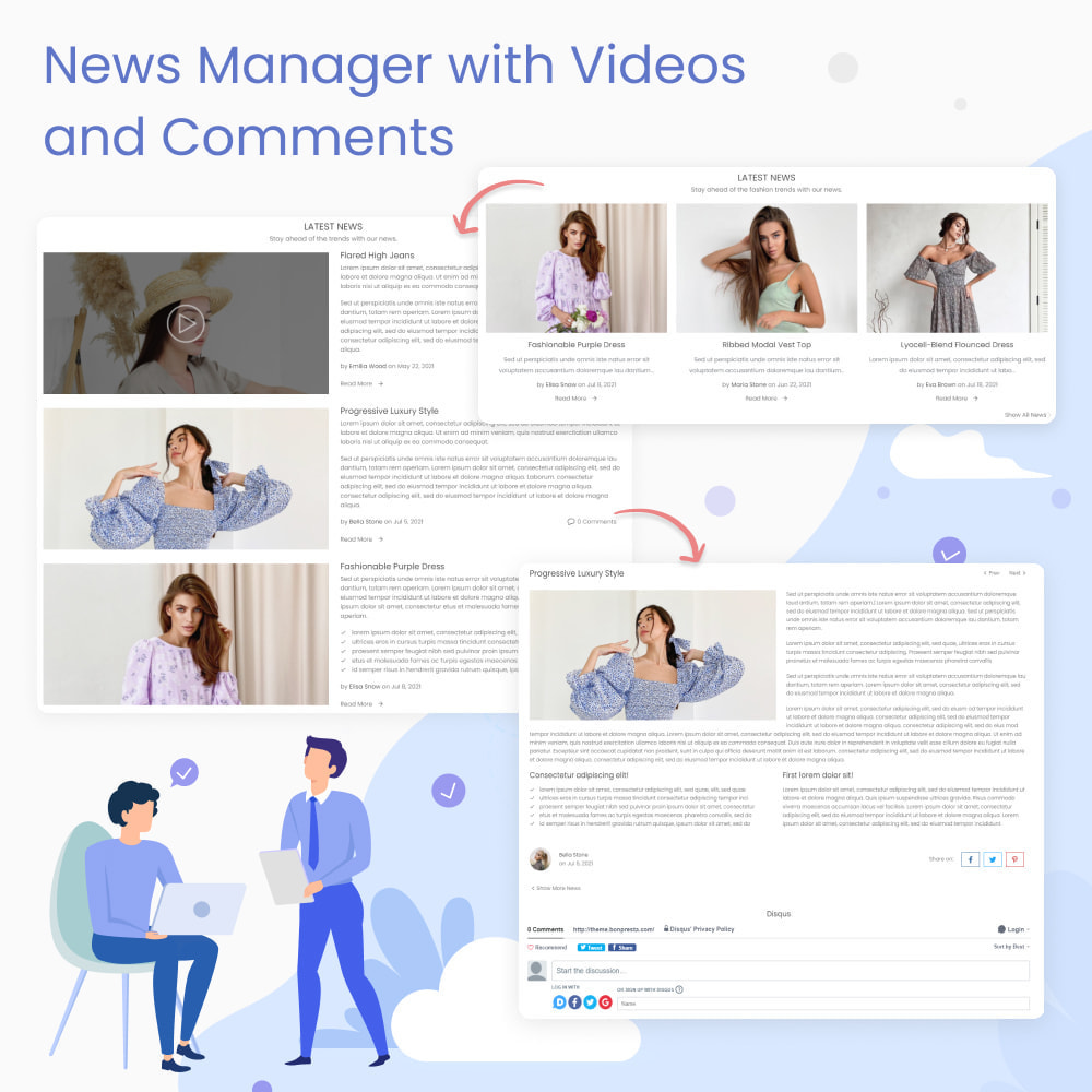 module - Blog, Foro y Noticias - Blog & News Manager with Videos and Comments - 1