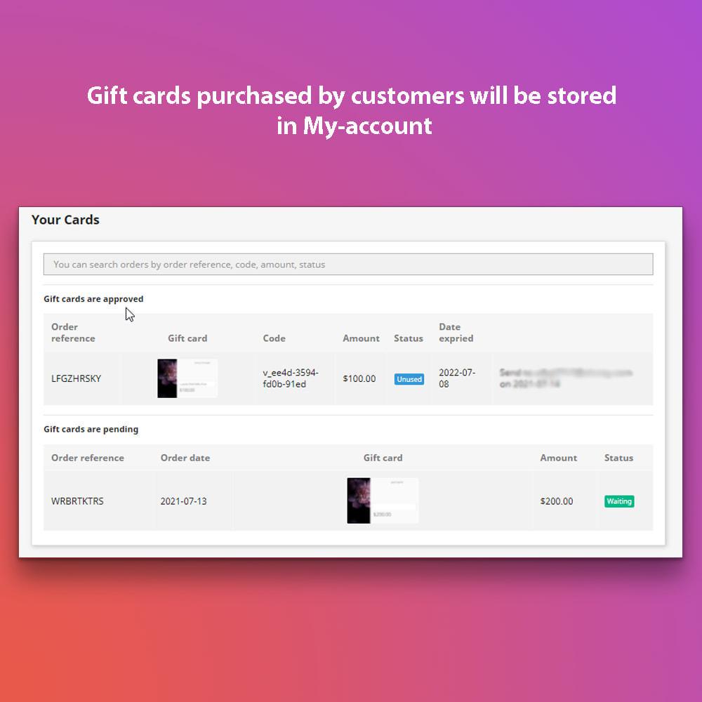 module - Список желаний и Подарочный купон - The wishlist and gift card pro - 6