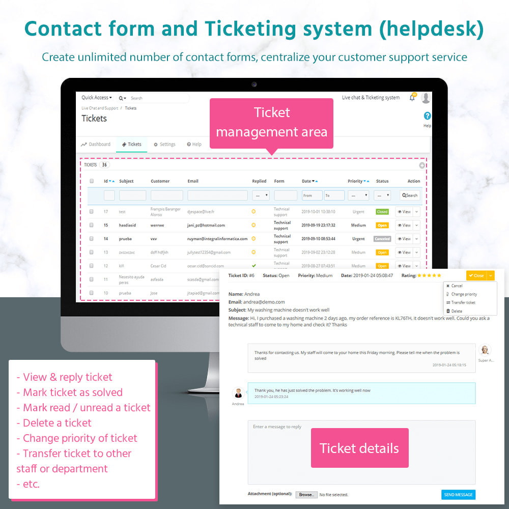 module - Suporte & Chat on-line - Live Chat, Contact form and Ticketing System - 2