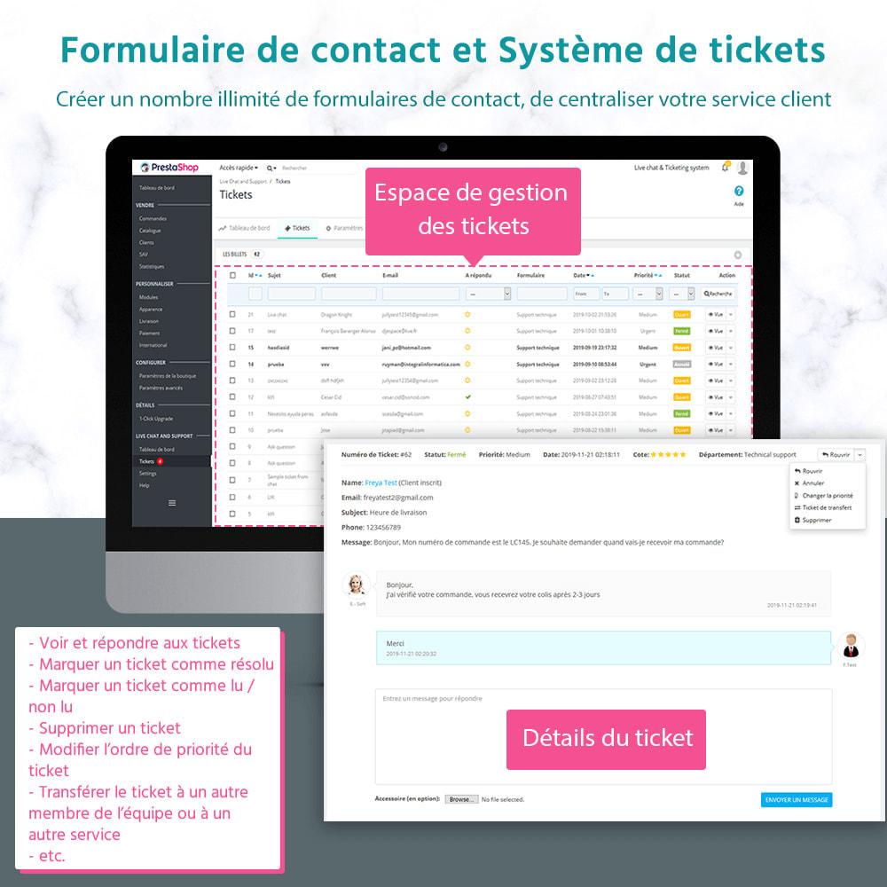 module - Support & Chat Online - Live chat, Formulaire de contact et Système de tickets - 2