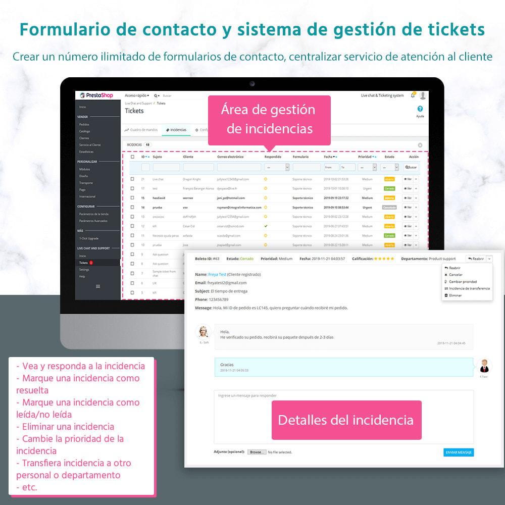 module - Asistencia & Chat online - Live chat, formulario de contacto y sistema de ticket - 2