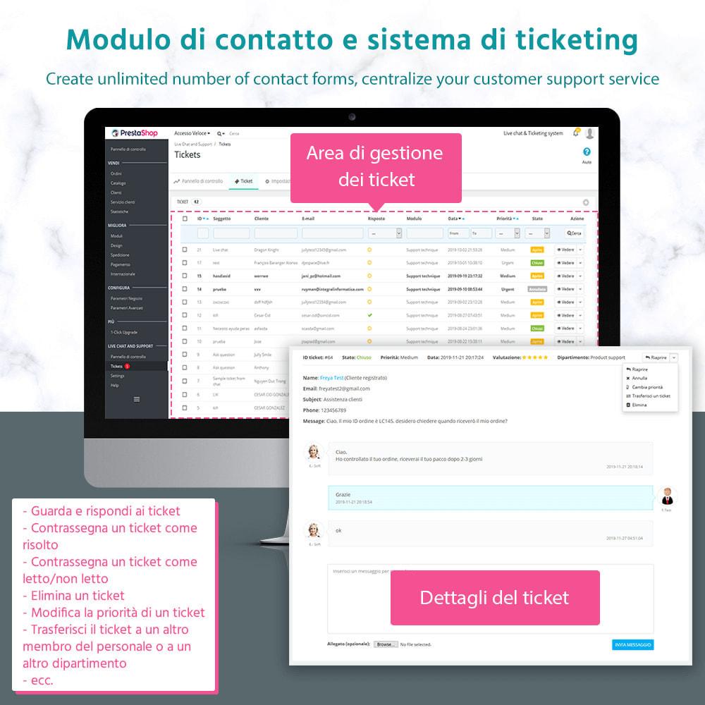 module - Supporto & Chat online - Chat live, modulo di contatto e sistema di ticketing - 2