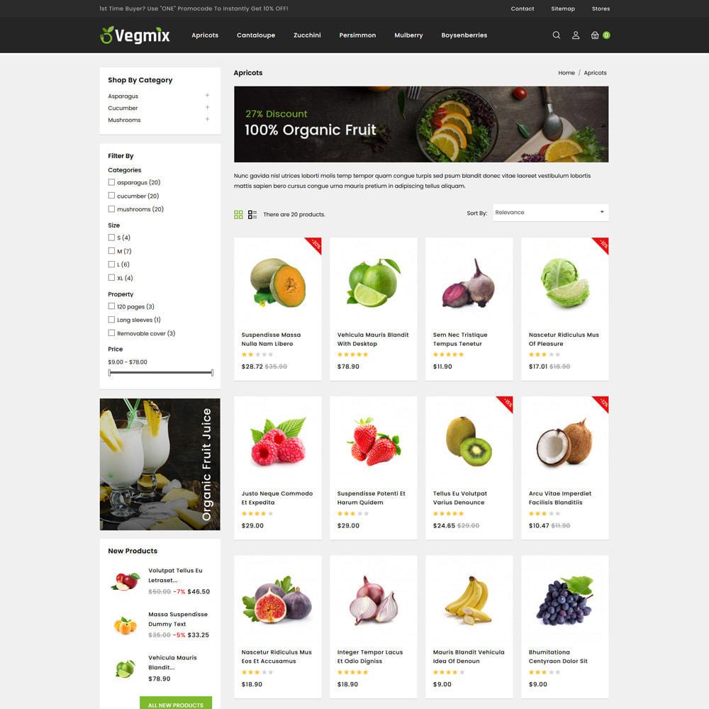 theme - Gastronomía y Restauración - Vegmix - Fruits & Vegetable Shop - 3