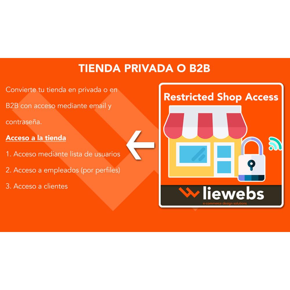 module - Seguridad y Accesos - Restricted Shop access (Acceso a tienda privada o B2B) - 1