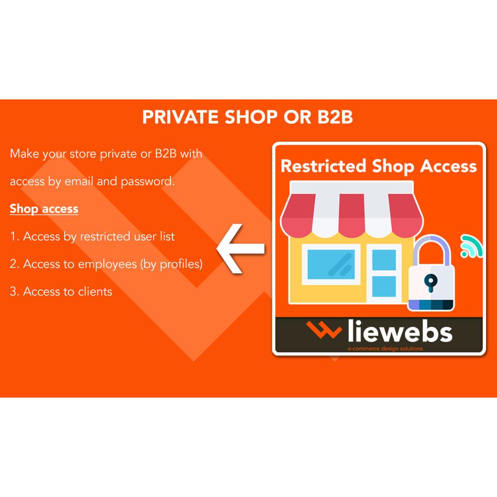 module - Bezpieczeństwa & Dostępu - Restricted Shop Access (Access to private shop or B2B) - 1