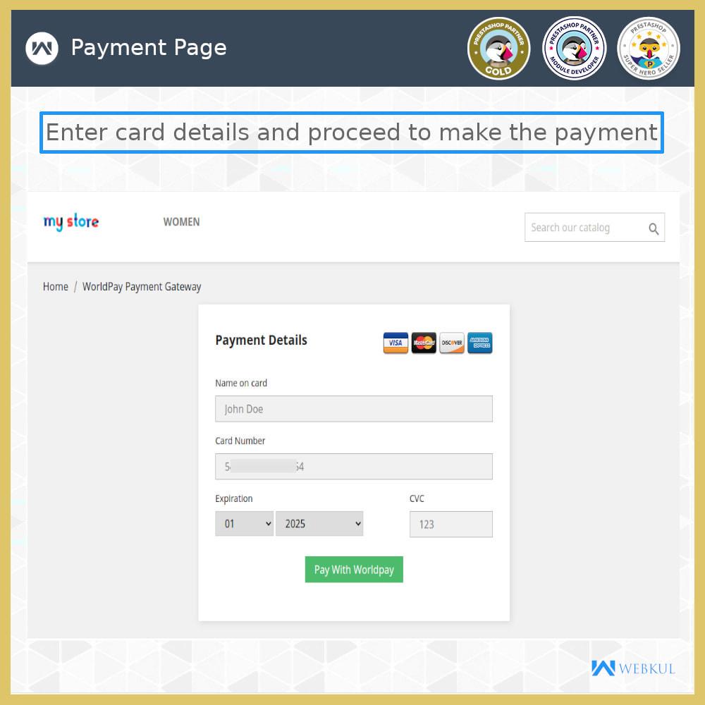 module - Pagamento con Carta di Credito o Wallet - Worldpay Payment Gateway - 2