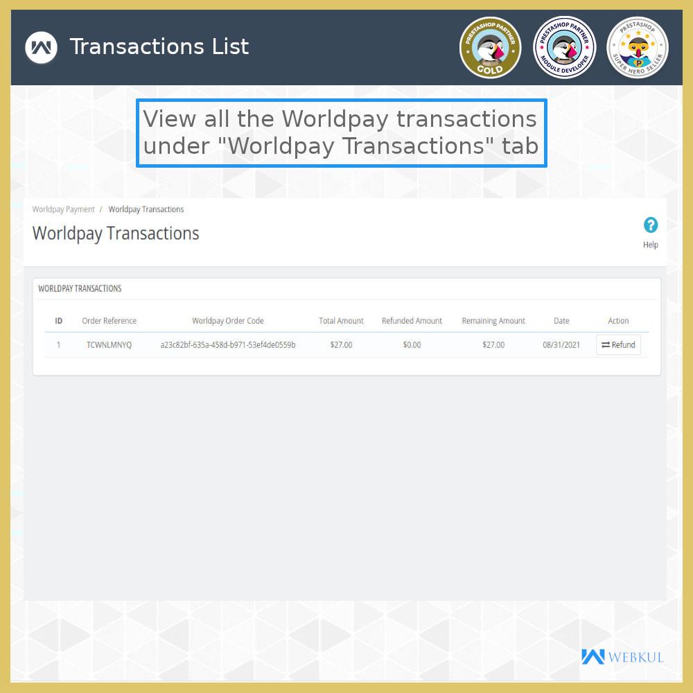 module - Pagamento con Carta di Credito o Wallet - Worldpay Payment Gateway - 5