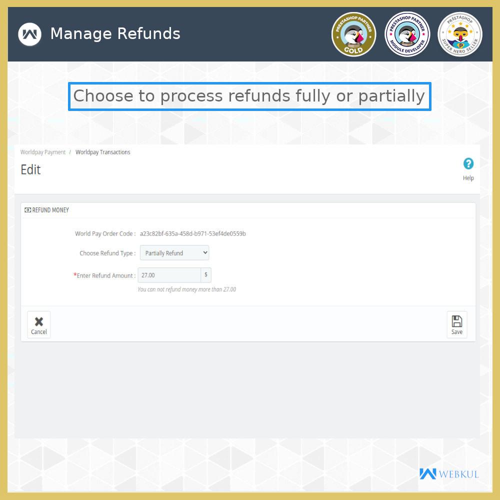 module - Pagamento con Carta di Credito o Wallet - Worldpay Payment Gateway - 6