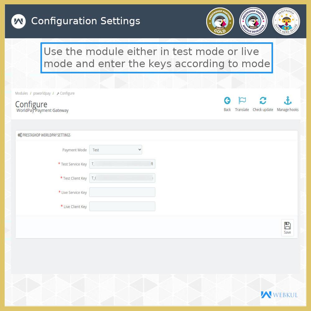 module - Pagamento con Carta di Credito o Wallet - Worldpay Payment Gateway - 7