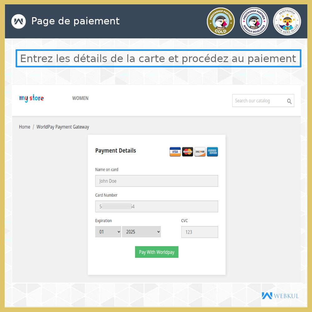 module - Paiement par Carte ou Wallet - Passerelle de Paiement Worldpay - 2