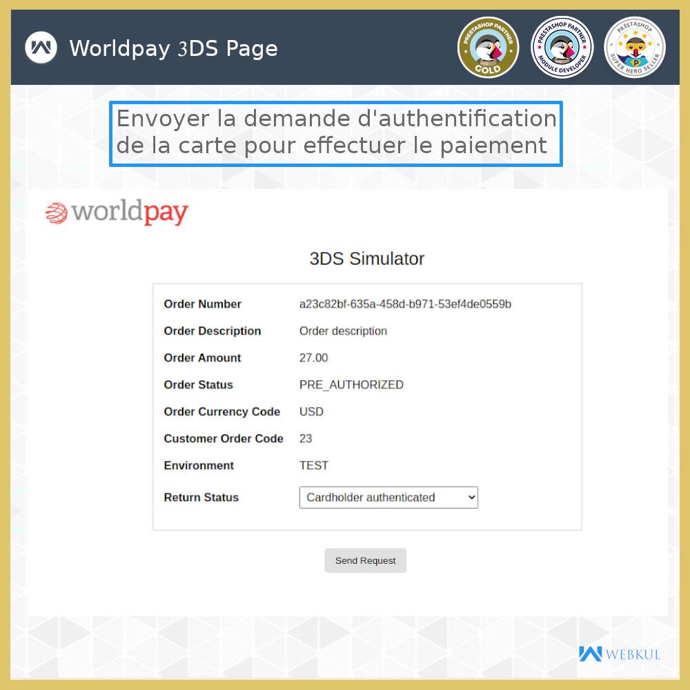 module - Paiement par Carte ou Wallet - Passerelle de Paiement Worldpay - 3